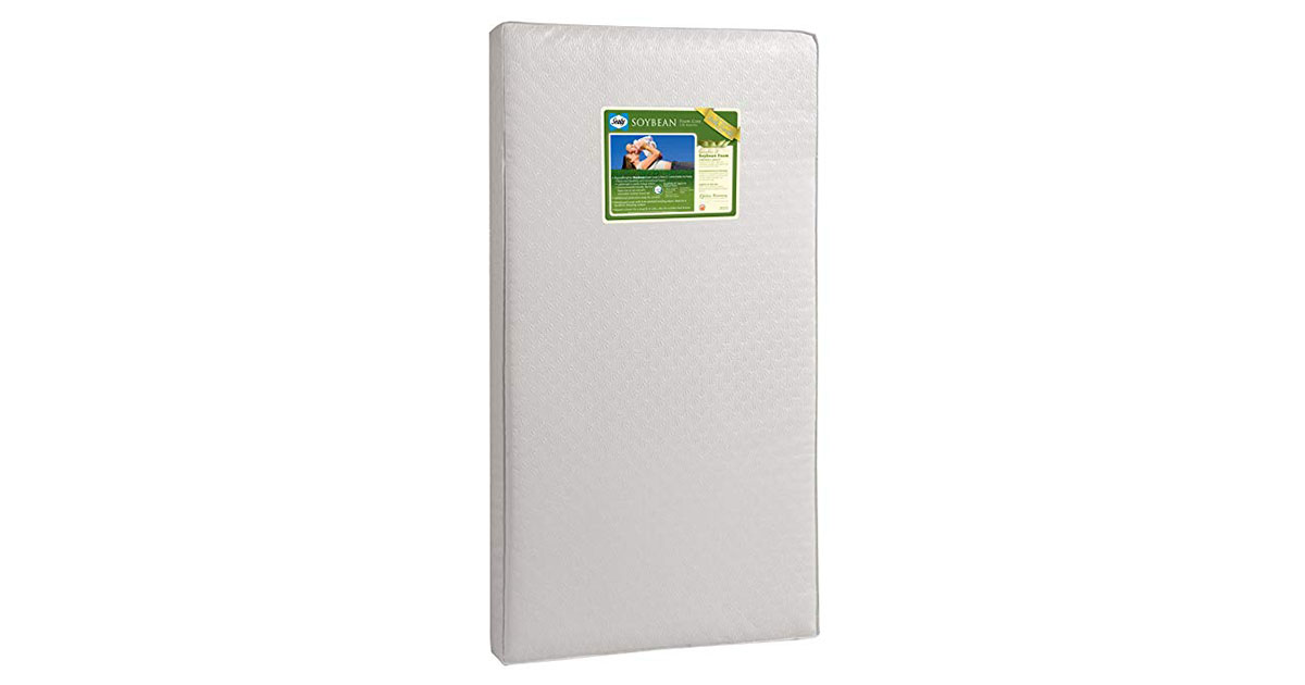 Sealy Soybean Foam Core Toddler   Baby Crib Mattress image