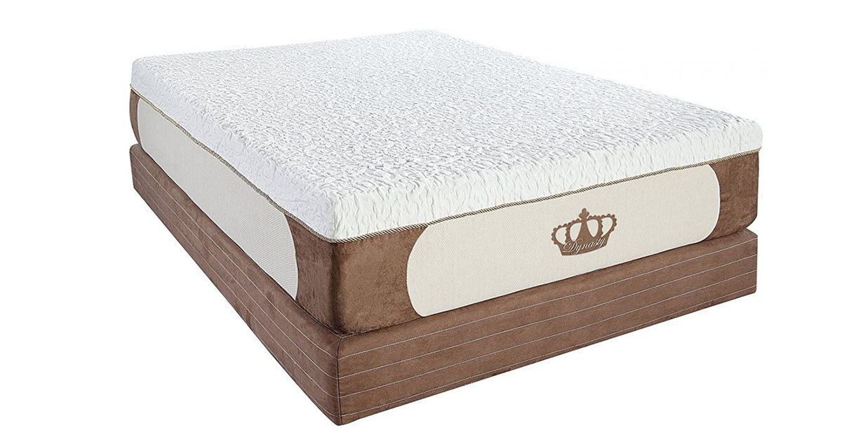 DynastyMattress Cool Breeze 12-Inch Gel Memory Foam Mattress Queen image