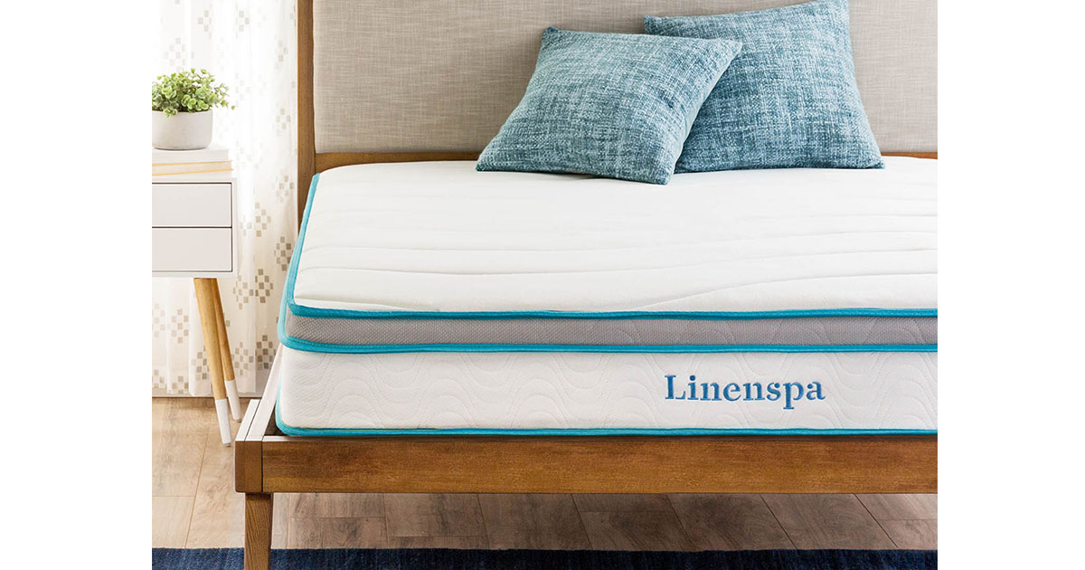 Linenspa 8 Inch Memory Foam and Innerspring Hybrid Mattress king image