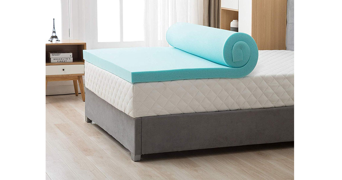 Mecor 4-4-inch King Size Gel Infused Memory Foam Mattress Topper image