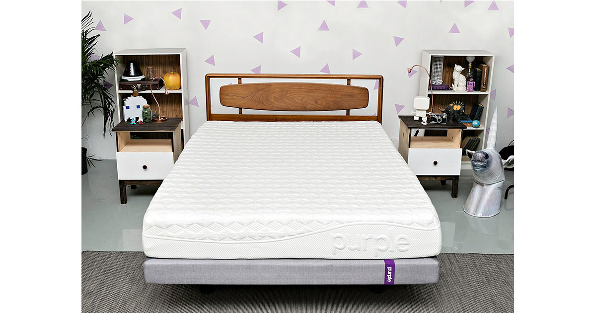 Purple California Hyper-Elastic Polymer King Size Mattress image
