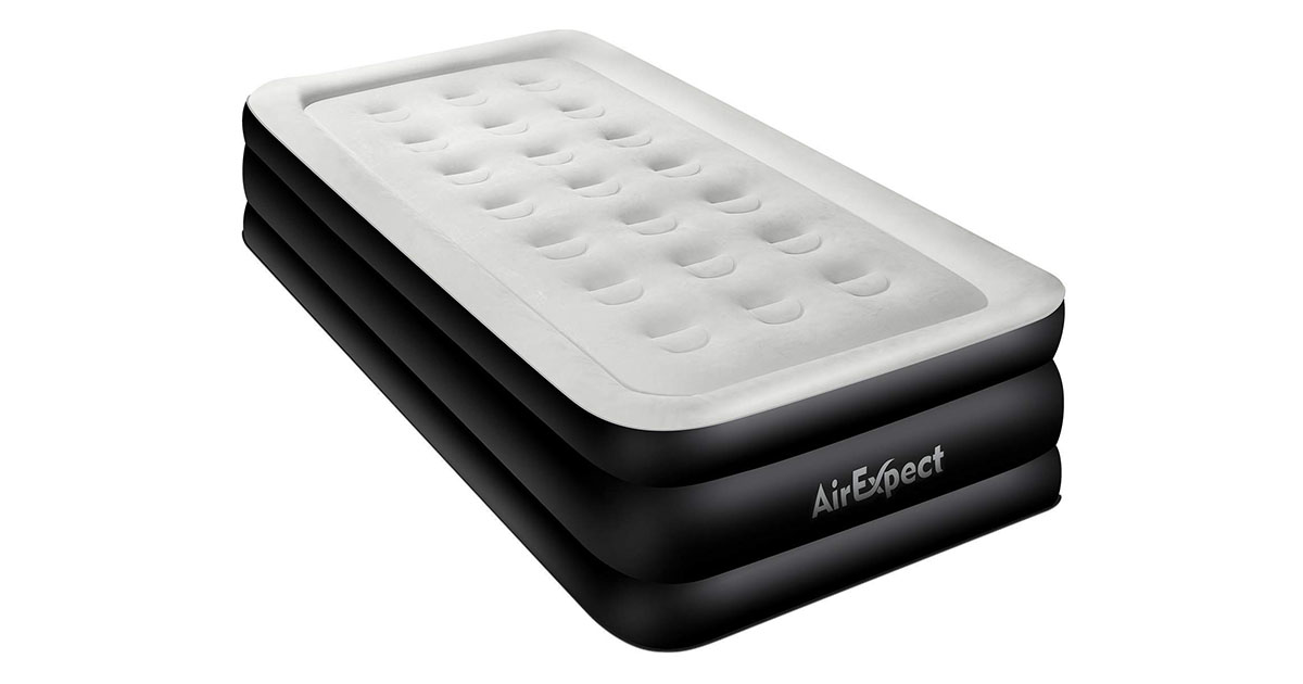 Air Mattress Twin Size Airbed AirExpect Upgraded Inflatable Mattress Height 19 image