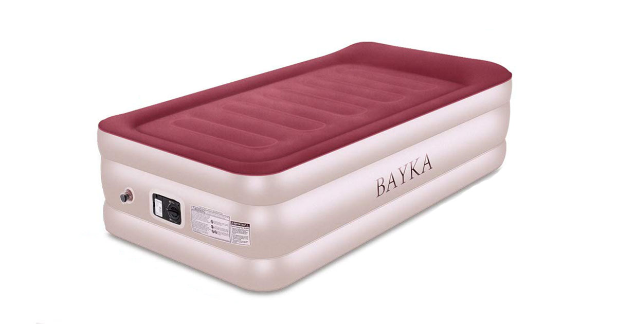 BAYKA Twin Air Mattress with with Built-in Pump Pillow image