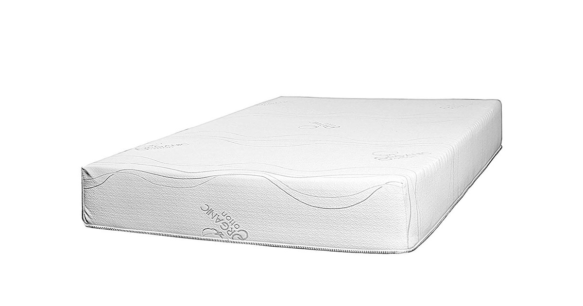 Best 2 Rest 10 inch Natural Latex Foam Mattress Twin with Organic Cotton Cover image