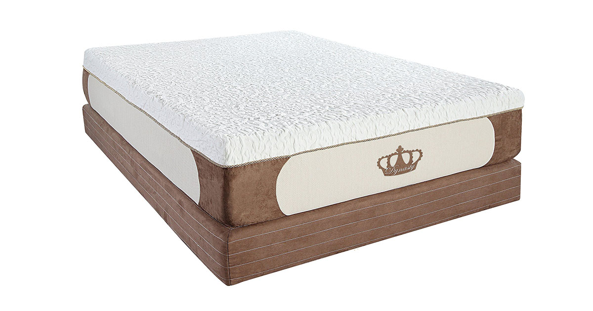 DynastyMattress Cool Breeze 12-Inch Gel Memory Foam Mattress King Size image