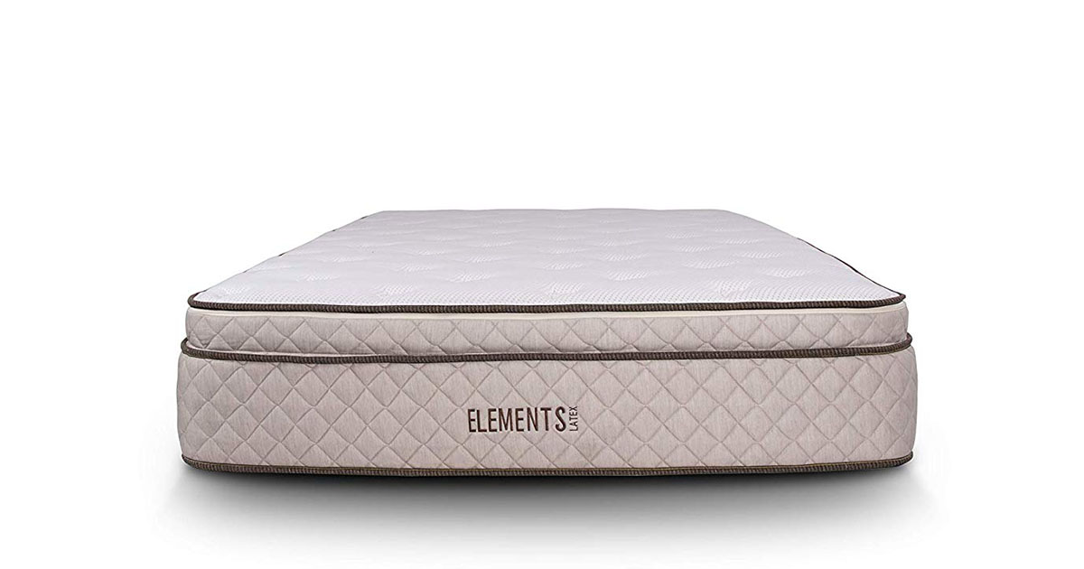 Elements Latex by Dreamfoam Bedding Willow 12 Eurotop Latex Mattress Queen image