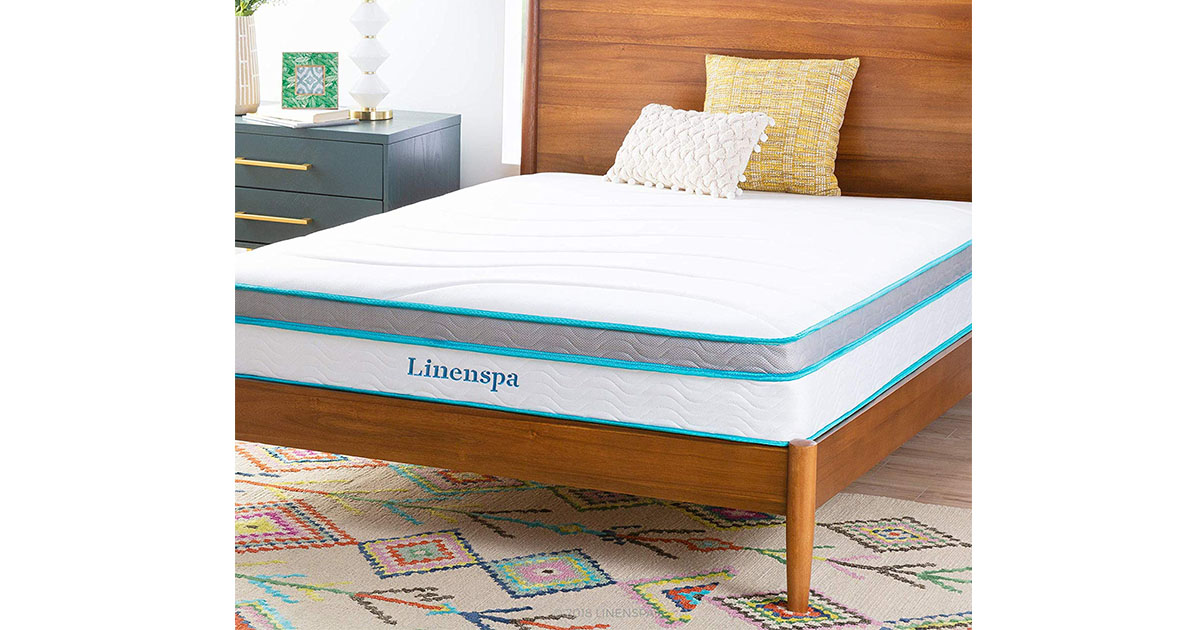 Linenspa 10 Inch Memory Foam and Innerspring Hybrid Mattress image