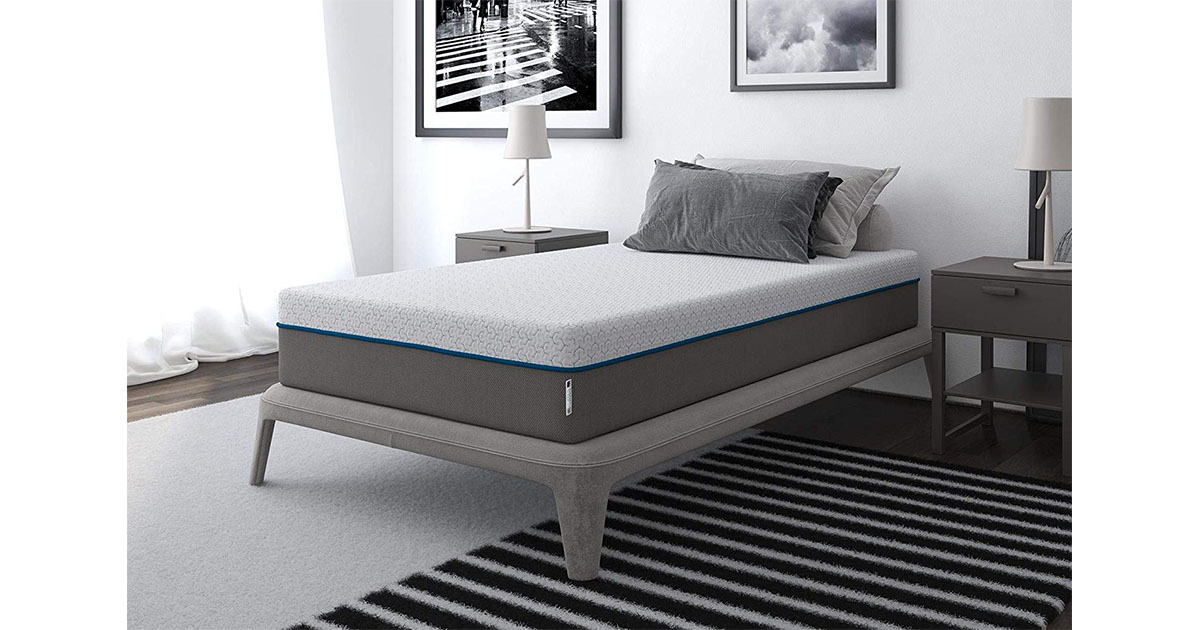 Signature Sleep Mattress Flex 10 Charcoal Gel Memory Foam Mattress twin size image