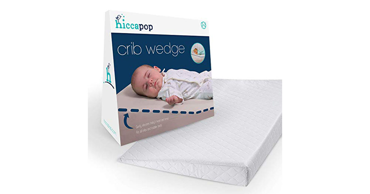 hiccapop Foldable Safe Lift Universal Crib Wedge for Baby Mattress and Sleep image