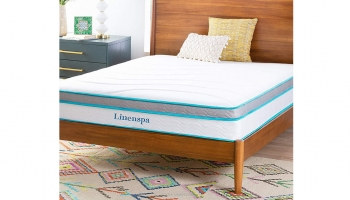 Linenspa 10 Inch Memory Foam and Innerspring Hybrid Mattress – Supportive & Comfortable